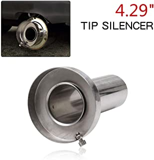 RYANSTAR Exhaust Muffler Round Removable Silencer 4.29