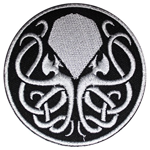 REAL EMPIRE Parche bordado de Cthulhu para coser o planchar para disfraz de disfraz o camiseta (420)
