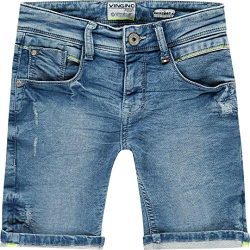 Vingino jongens jogdenim jeans korte broek Carst Light vintagelau