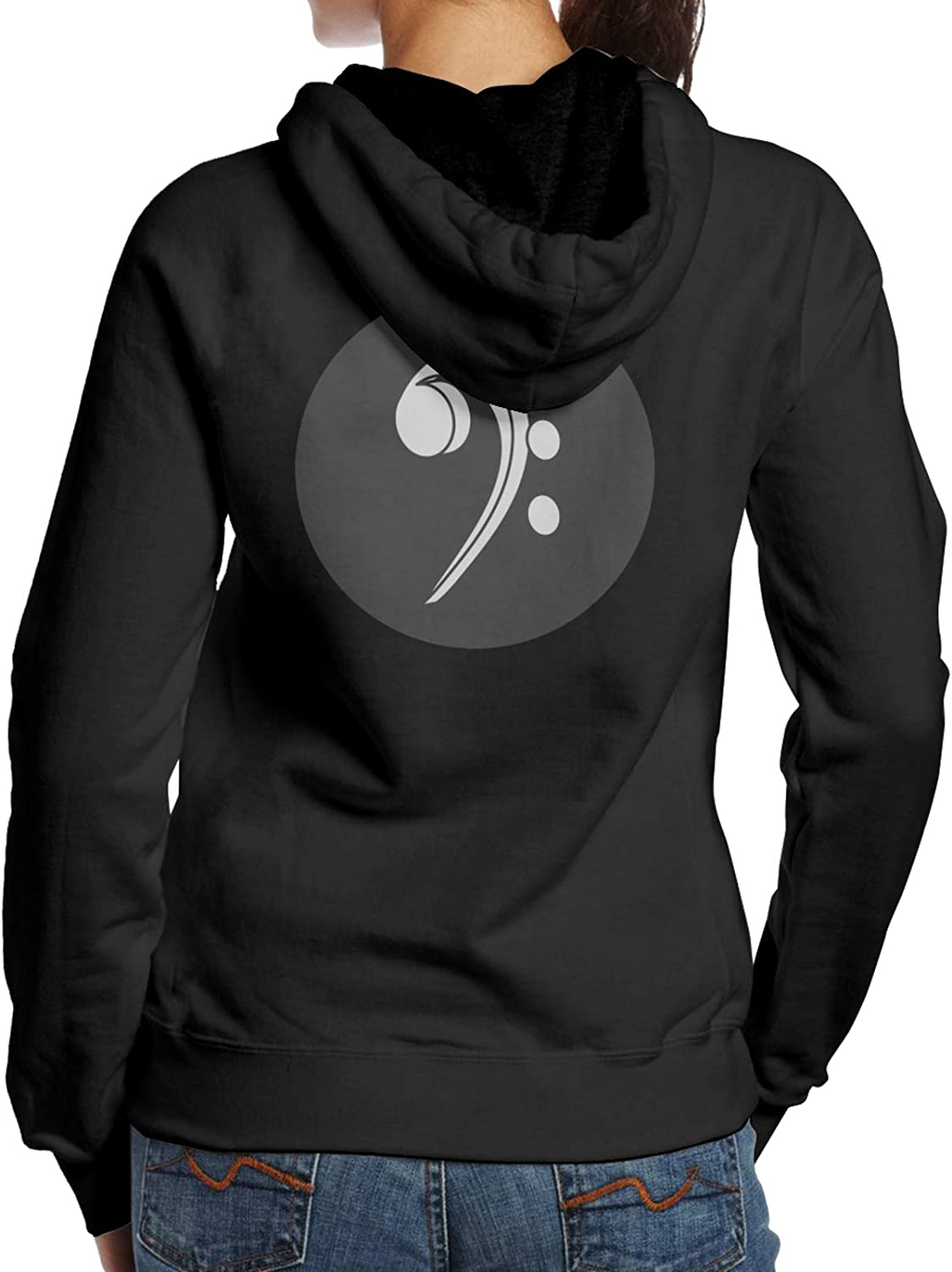 Bass Clef Music Logo Woman'S Large-scale sale Hoodie Fashion Sleeve Long S San Francisco Mall Casual