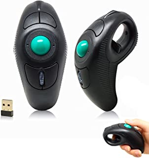 Eximtrade Mini Wireless USB Portable Handheld Finger Ring Trackball Mouse with Laser Pointer for Notebook Desktop Laptop PC