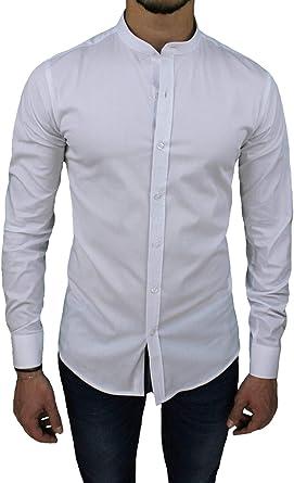 senza marca - Camisa Casual - Liso - Manga Larga - para ...