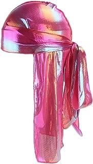 Clearance Sale!UMFun💗💗 Men/Women Silk Polyester Bandana Hat Durag Rag Tail Headwrap Headwear Gift
