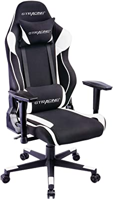GTRACING Ergonomic Chair Racing Chair Backrest and Seat Height Adjustment with Pillows Recliner Swivel Rocker Tilt