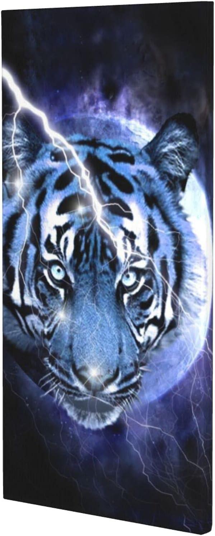 Department Max 73% OFF store HUANGJ Fierce tiger's head struck modern dec Poster lightning by