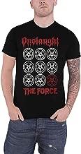 Onslaught T Shirt The Force Band Logo Thrash Metal Official Mens Black