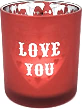 Yankee Candle Red Candy Hearts Flickering Love Votive/Tea Light Candle Holder