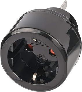 Brennenstuhl Reisstekker / reisadapter (reisstekkeradapter voor: Australië, China stopcontact en geaarde stekker) zwart
