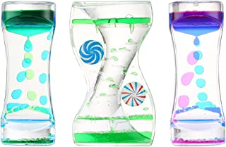 Liquid Motion Bubbler Timer: Best Sensory Toy for Relaxation, Liquid Motion Timer Toy Floating Color Lava Lamp Timer - Incredibly Effective Calming Toy for Kids, Relaxing Liquid Bubbler Timer for Adhd