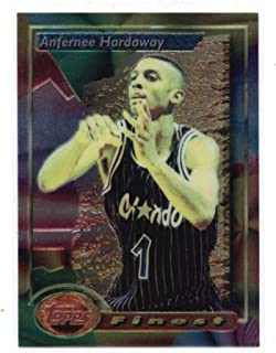 1993-94 Finest Basketball #189 Anfernee Hardaway RC Rookie Card Orlando Magic Premiere Edition of Finest. Official NBA Trading Card From The Topps Company