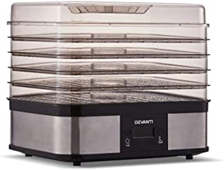 5 Trays Food Dehydrator Commercial Fruit Dryer Drying Beef Jerky Maker Stainless Steel Silver