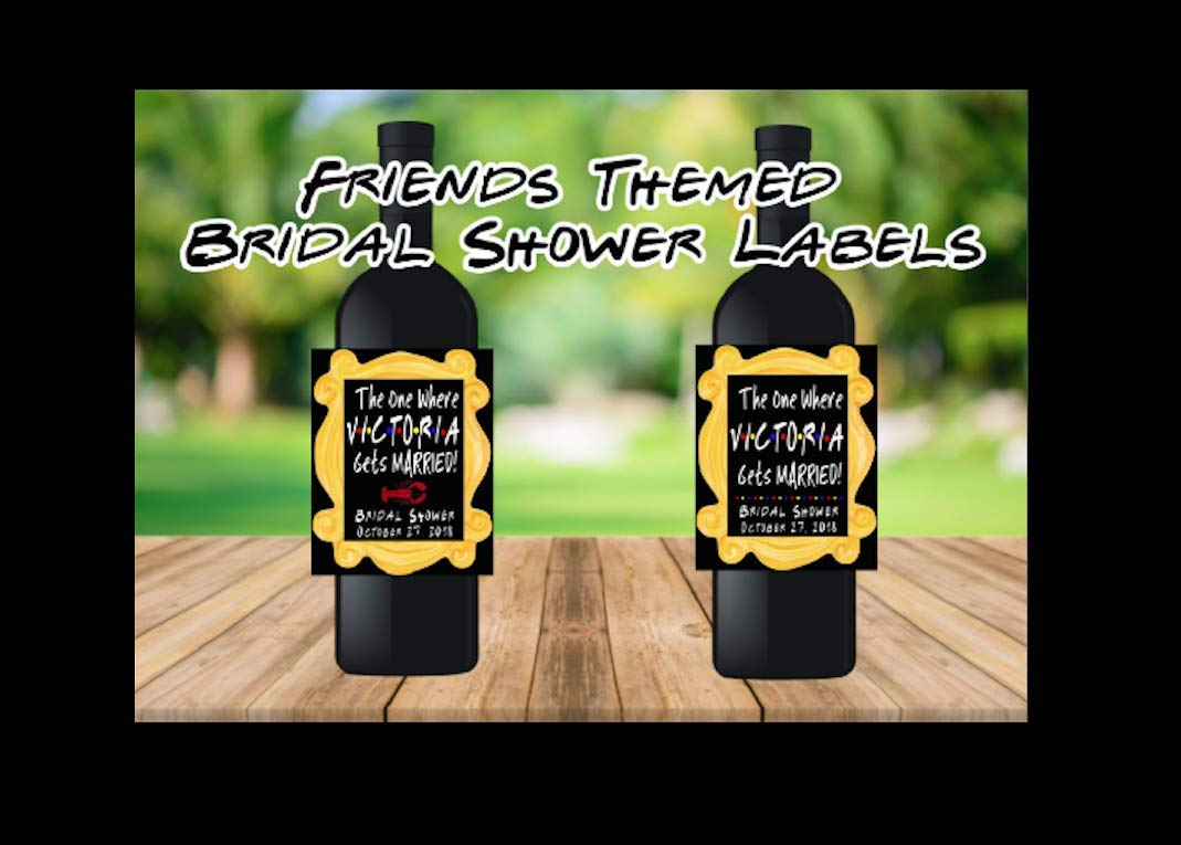 Atlanta Mall Limited time sale Wedding Wine Labels The One Where Married Shower She Gets Bridal