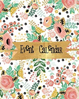 """Event Calendar: Perpetual Calendar   Record All Your Important Celebrations Easily   Never Forget Birthday's Or Anniversaries Again   Monthly Quotes   Christmas Card List   8""""x 10"""""""