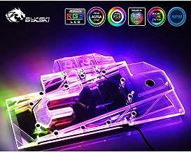 GPU Copper Water Cooling Block Compatible with MSI GeForce RTX 2080Ti Gaming X Trio RGB LED Water Block GPU Waterblock