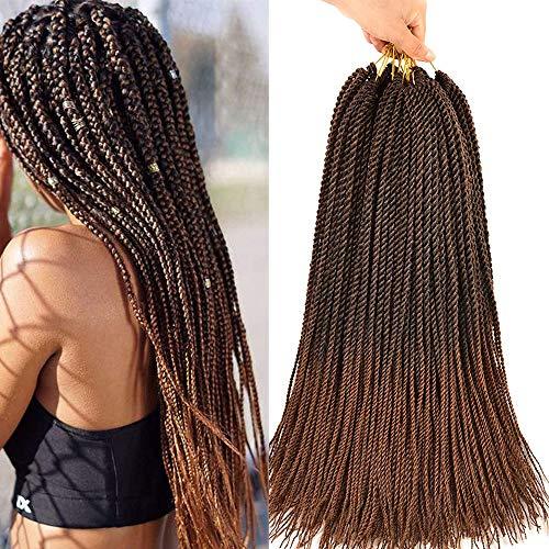 6Pcs 22Inch 30strands / Pack Senegalese Twist Crochet Hair Kleine Häkelborten Pre Looped Mini Havana Mambo Twist Crotchet Hair Synthetische Flechthaarverlängerungen(6pcs, T30)