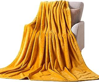 NANPIPER Flannel Fleece Blanket Throw Luxury Microfiber Soft Throw Size 50