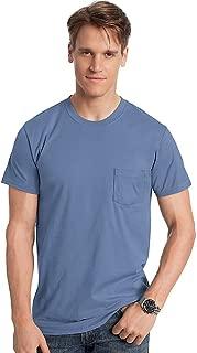 Hanes Mens Ringspun Cotton Nano-T T-Shirt with Pocket (498P)