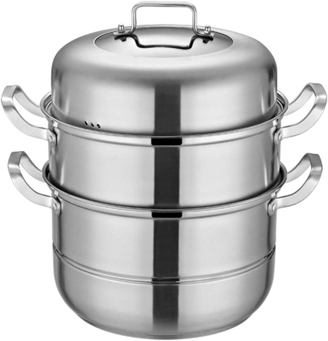 304 Stainless Super intense SALE Steel Steamer Pot Tier 3 Bargain Triple-Tier