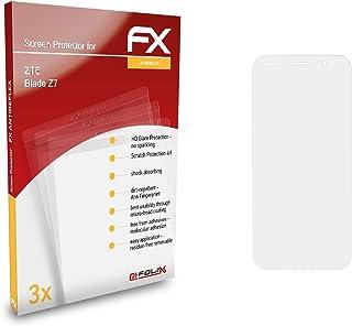 atFoliX Skärmskydd är kompatibel med ZTE Blade Z7 Skyddsfilm, antireflekterande och stötdämpande FX Film (3X)