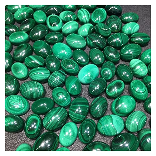 Tderloi Piedra Rugosa Malaquita Natural Cabochon Bricolaje para Anillo Colgante Cristal Cuarzo Curación Piedra Mujeres Hombres Joyería de Moda Regalo (Color : 10-14mm)