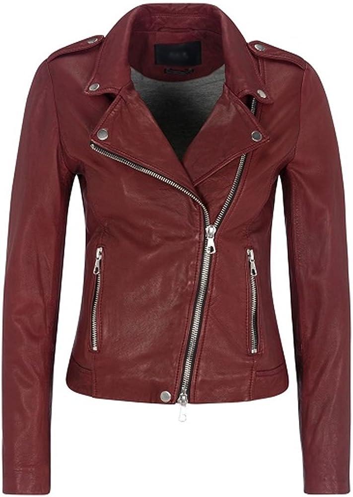 SleekHides Women's Fashion Biker Real Leather Brando Style Jacket
