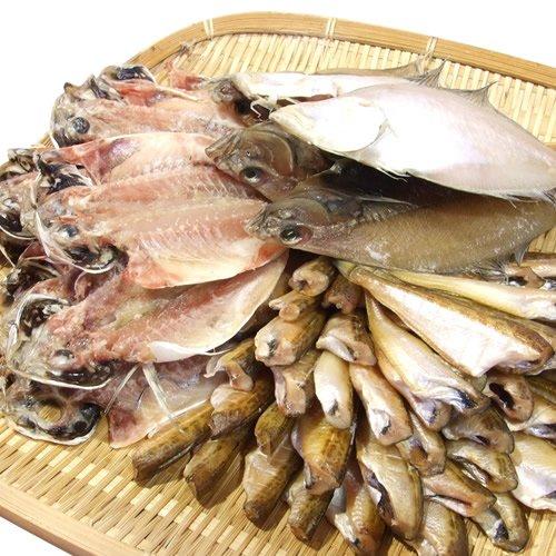 山陰日本海の訳あり3種類冷凍干物セットどっさり1.5kg【ハタハタ・カレイ・アジ】〔フォーシーズン〕冷凍