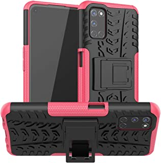 OPPO A52/A72/A92 Case, Ikwcase Heavy Duty Armor Tough Hybrid Shockproof Dual Layer Kickstand Protective Case Cover for OPP...