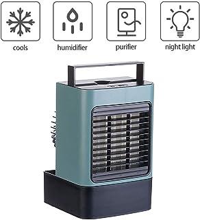 Kacsoo Enfriador de Aire Personal Ventilador portátil de Gran Capacidad de 600 ml con batería Adecuada para el Aire Acondicionado de Oficina Cuatro en uno de Interior y Exterior de la Oficina (Verde)