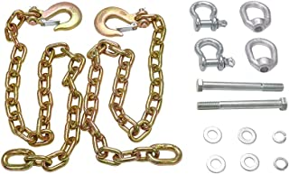 ENIXWILL Safety Chain Kit Fit for Towing Trailer Fifth Wheel Connection with Chain Hooks & Mounting Hardware