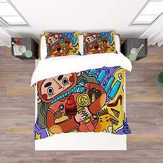 DEWUFAFA Girl single bed bedding set, down duvet cover, 3D printed microfiber duvet cover, birthday gift for female girl (...