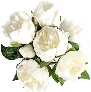 """Meide Group USA 14"""" Real Touch Latex Peony Bunch Artificial Spring Flowers for Home Decor, Wedding Bouquets, and centerpie..."""