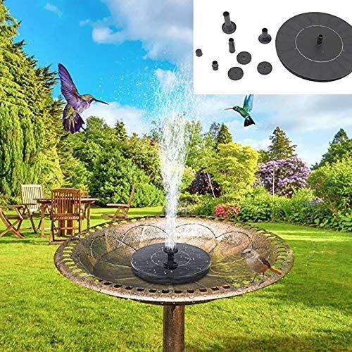 HHORD Solar-Vogel-Bad Teichpumpe, Solarbrunnen Mit Düse, Freistehende Schwimmsolarbetriebene Wasserteichpumpe Für Vogel-Bad, Garten, Teich, Pool, Außen