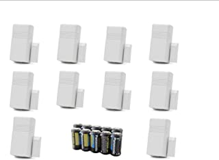 Lot of 10 Honeywell Ademco 5816 WMWH White Door Window Transmitter w Magnets Batteries and Mounting Hardware