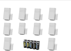 Lot of 10 Honeywell Ademco 5816 WMWH White Door/Window Transmitter w/ Magnets, Batteries and Mounting Hardware