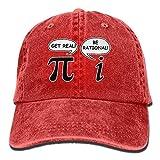 EU Funny Math Pi Unisex Erwachsene Denim Washed Cowboy Trucker Hat Retro Verstellbare Baseballkappe