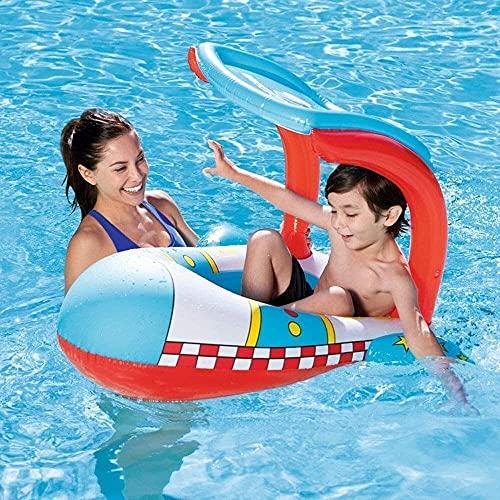 HJQFDC Falten Pool, aufblasbarer Pool, Kinderschwimmring, Kinderspielzeug schwimmende Schatten, Wasser schwimmende Bett Party Spielzeug Peng MEI