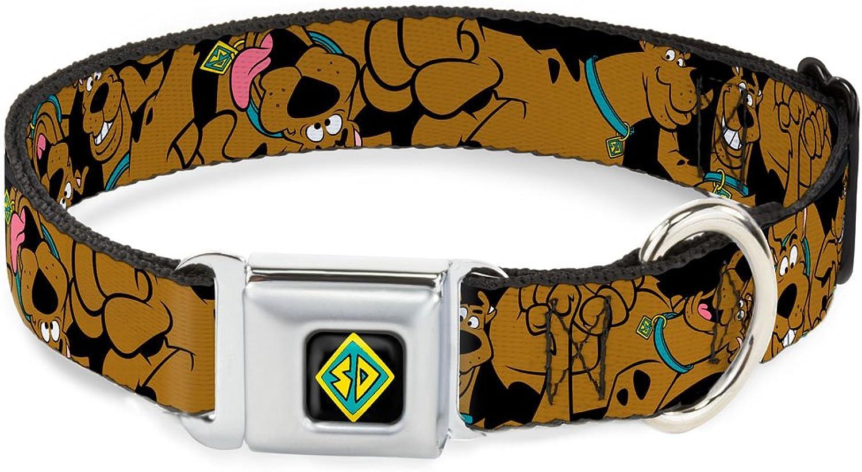 BuckleDown DCWSD003WS Dog Collar Seatbelt Buckle, Scooby Doo Stacked C U Black, 1.5  by 1318