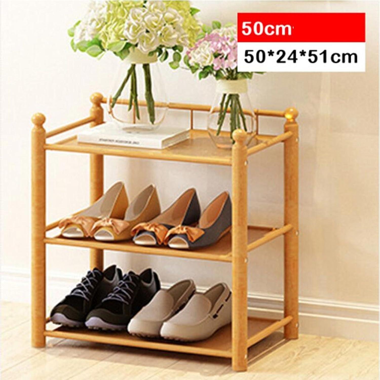 80% de descuento XUEYAN Zapatero de Zapato de múltiples Capas Zapatero de de de Zapato de Madera Maciza Zapatero de Madera Macizo de bambú (Color   3 Layers, Tamao   50cm)  en venta en línea