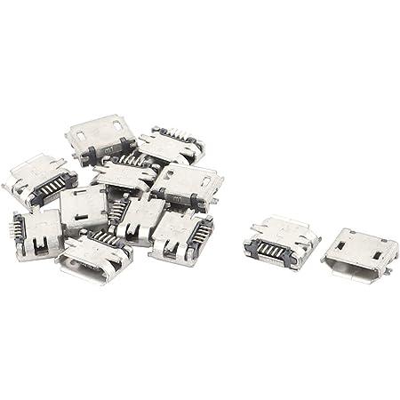 10 Stück Typ B Micro-USB-5-Pin-Buchse Ladegerät Mount Jack Connector Port-BR/_XG