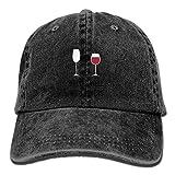Voxpkrs Unisex-Getränke gut mit Anderen lustigen Bier Trinken Baumwolle Baseballmütze Vintage Snap Cap Hüte einstellbar DV2391