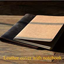 Personalized leather cover case for A5 notebook/Simple A5 Refillable Leather Journal Notebook cover vintage retro darkbrown