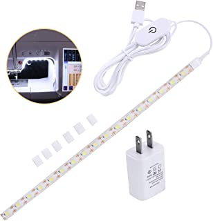 AMAZING POWER Sewing Machine Light, Bright Sewing Strip Light with Touch Dimmer and USB Power Supply Cold White 6500K