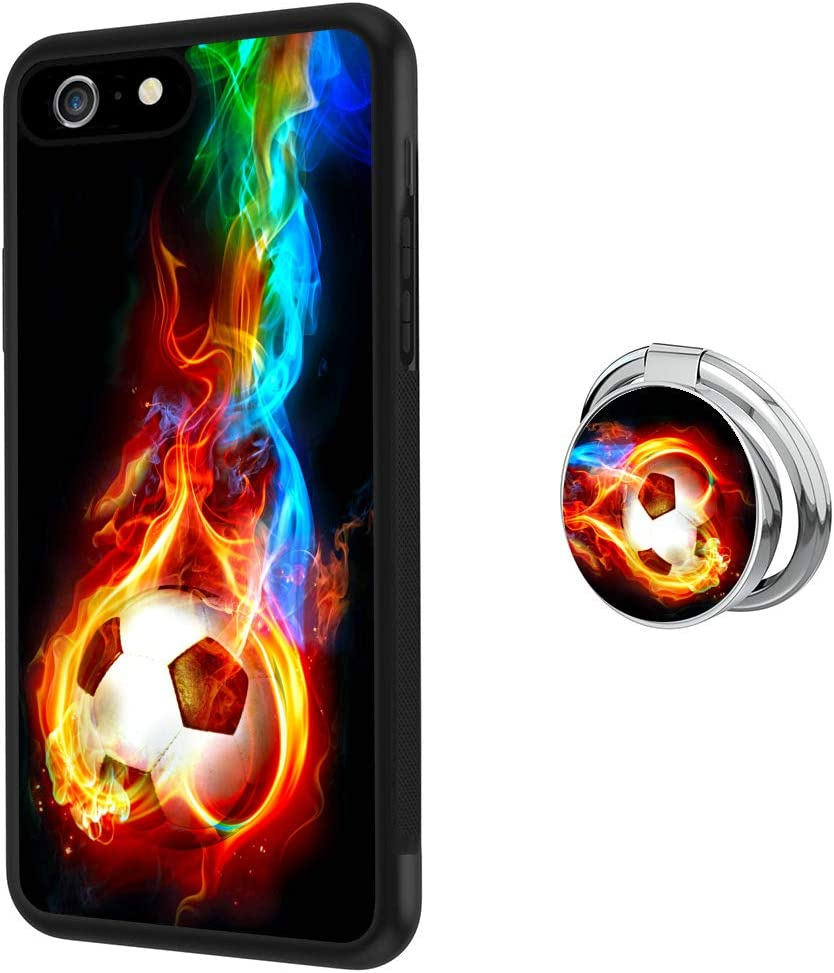 Designed Flame Soccer iPhone 6 Plus Ring Case with free shipping 360Buckle OFFicial store