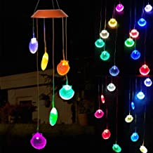 xxschy LED Solar Seashell Wind Chimes Outdoor - Waterproof Solar Powered LED Changing Light Color 6 Shells Mobile Romantic Wind-Bell for Home, Party, Festival Decor, Night Garden Decoration