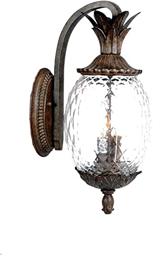 new arrival Acclaim 7512BC Lanai Collection 3-Light Wall Mount Outdoor Light wholesale online Fixture, Black Coral online