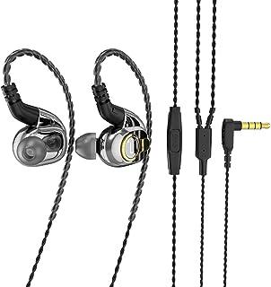BLON BL05 - Auriculares in-ear con diafragma de carbono de 10 mm con disco dinámico, auriculares de metal con carcasa de m...