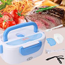 Electric Lunch Box - #Thanksgiving Christmas Gift#Toursion Portable Food Heater Car and Home Dual Use with Removable Stainless Steel 304 Container & PP Removable Container Food Grade Material 110V&12V