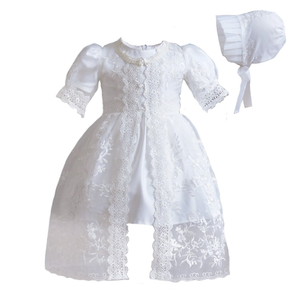 Coozy Baby Girl Dress Christening Gowns Flower Girl baptism dresses 3Pcs outfits