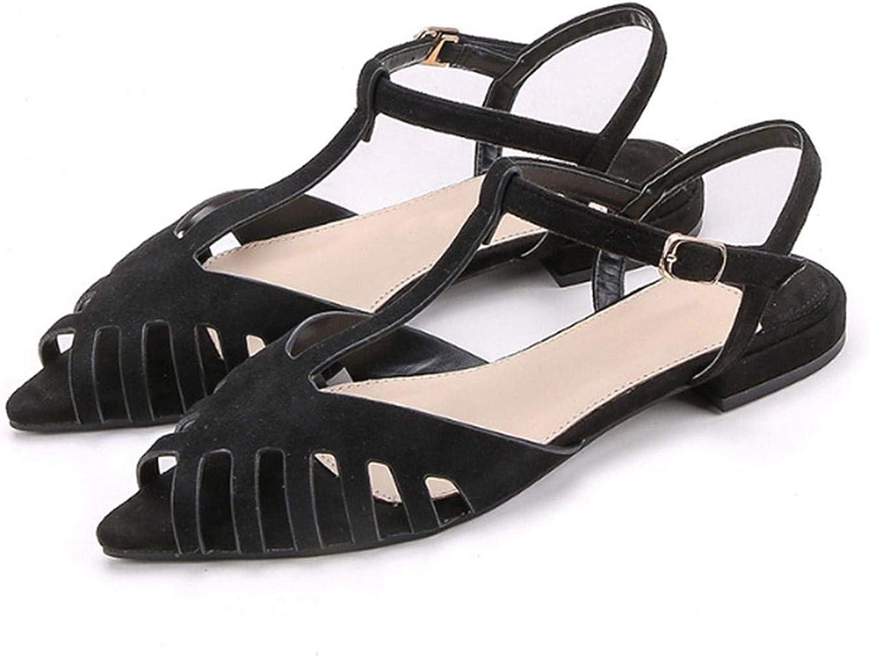 FAT BABY Women Flat Sandals Fashion Peep Toe Summer shoes Woman Faux Suede Flat Sandals