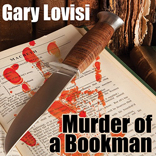Murder of a Bookman audiobook cover art